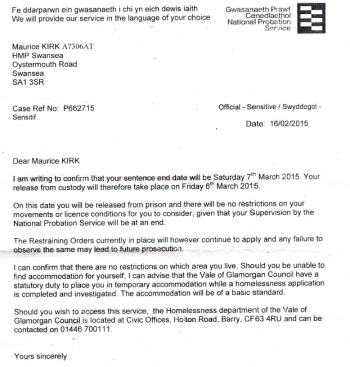 MAURICE KIRK - POSITION STATEMENT 18 +16 FEB. + DOCUMENTS RECEIVED 19 FEB. 2015  inc. LETTER TO GMC, RCJ APPEAL CT, + more
