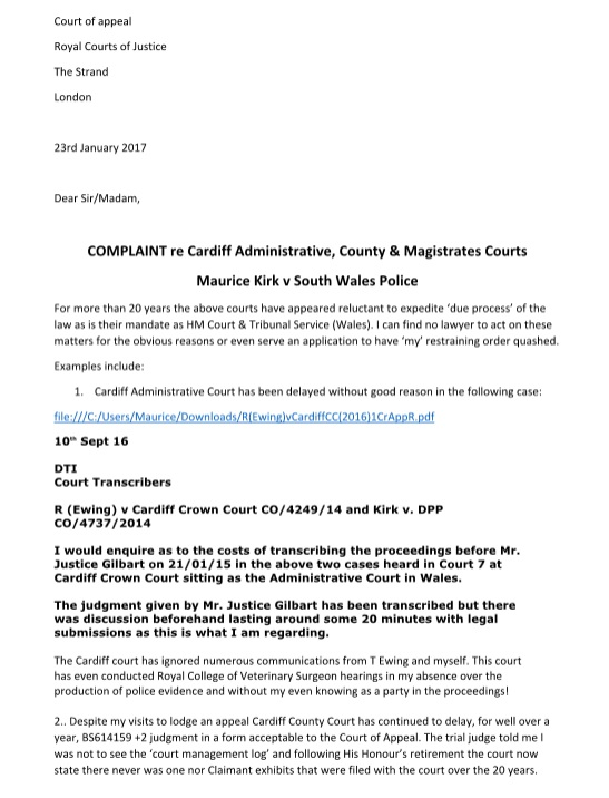 court summons sample letters