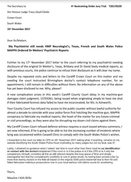 MAURICE KIRK Liar Riddled South Wales Police Cardiff Court Cover
