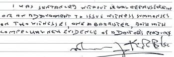 MAURICE KIRK: PRISON STILL DENIES BASIC RIGHTS, + SERIOUS SENTENCING HEARING IRREGULARITIES - 05 Jan. 18 + archive